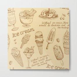 ice cream vintage pattern Metal Print