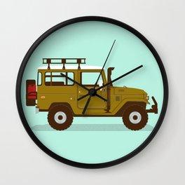 Toyota Landcruiser FJ40 Illustration Wall Clock