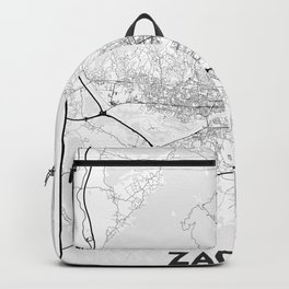 Minimal City Maps - Map of Zagreb Backpack