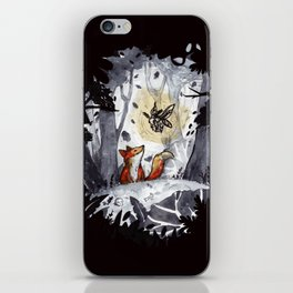 Fox and the Moth iPhone Skin