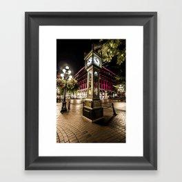 Gastown Steam Clock  Framed Art Print