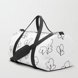 When We Were Small - Flowers Plants Illustration Pattern Duffle Bag