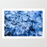 ice Art Prints featuring Ice by digital2real