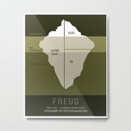 Science Posters - Sigmund Freud - Neurologist, Psychoanalyst Metal Print