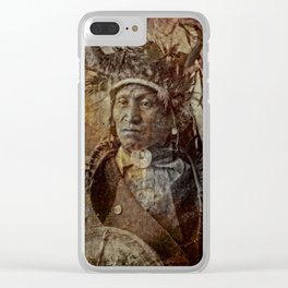 Assiniboine Chief Clear iPhone Case