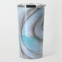 swirl (light blue) Travel Mug
