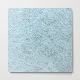 Sky Blue Spray Plaster Texture Metal Print