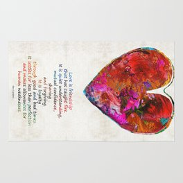 Red Heart Art - Love Is - By Sharon Cummings Rug