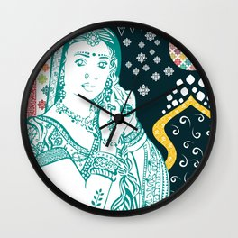 Hindu Woman Wall Clock