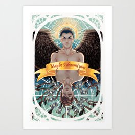 The dreamer and the magician. Art Print