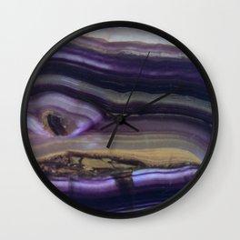 Fluorite from Mexico Slab Slice Crystal Purple Wall Clock