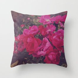 Faded Floral Throw Pillow