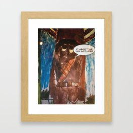 A pannel from my comic Bunny  Kill TM Framed Art Print