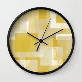 Modern Abstract No. 19   Citron Wall Clock