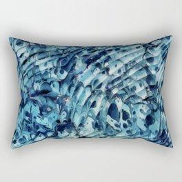 Blue marbling vintage Rectangular Pillow