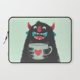 Demon with a cup of coffee Laptop Sleeve