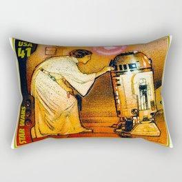 Princess Leia and R2D2 Rectangular Pillow
