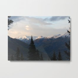 Snow-capped Mountain Photograph Metal Print