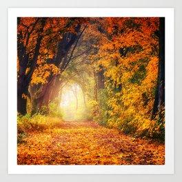 Autumn Photography - Road To Heaven Art Print