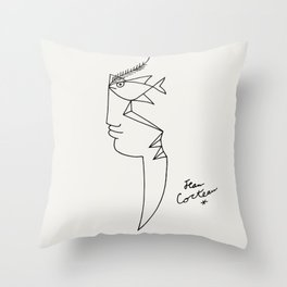Poster-Jean Cocteau-Linear drawings-Fisheye. Throw Pillow