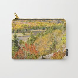 Sand Beach In Fall from Great Head Acadia National Park Photo Carry-All Pouch
