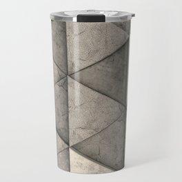 Pattern of concrete triangle prisms Travel Mug