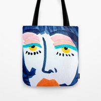 mod Tote Bags featuring Mod Girl by Bouffants and Broken Hearts