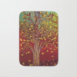 Abstract Fall tree Bath Mat