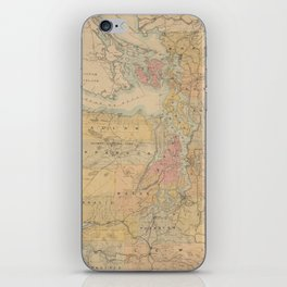 Vintage Map of The Puget Sound (1891) iPhone Skin
