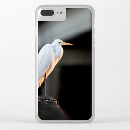Great Egret at Sunset Clear iPhone Case