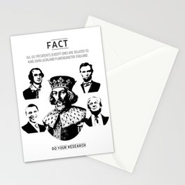 [Fact] All Presidents Have One Common Ancestor Stationery Cards