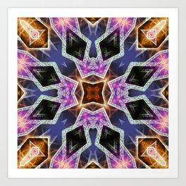 Crystal Diamonds Geometric Mandala Art Print