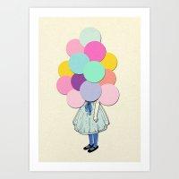 dragon ball Art Prints featuring Ball  by Magdalena Pankiewicz
