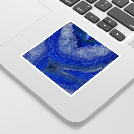 deep blue agate with peach background Sticker
