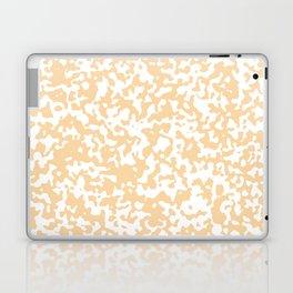 Small Spots - White and Sunset Orange Laptop & iPad Skin