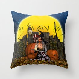 Spell Study Throw Pillow