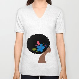 african woman Unisex V-Neck