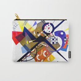 Kandinsky On White II (Auf Weiss) 1923 Artwork Reproduction, Design for Posters, Prints, Tshirts, Me Carry-All Pouch