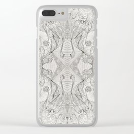 Lines (oh, let's enjoy the wild unknown, baby!) Clear iPhone Case