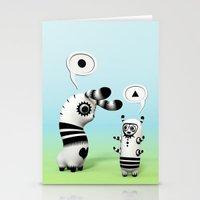 lama Stationery Cards featuring Lally Lama by Teodoru Badiu