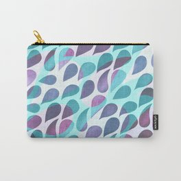 Raindrops – Turquoise Carry-All Pouch