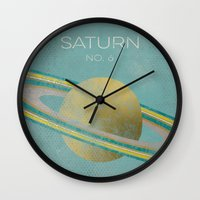 saturn Wall Clocks featuring Saturn by Metron