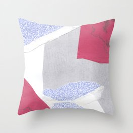 confused shocked thrilled Throw Pillow