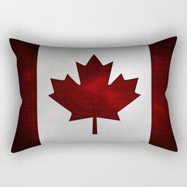 Metallic Canadian Flag Rectangular Pillow