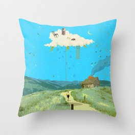 DREAMING IN FOOTHILLS Throw Pillow
