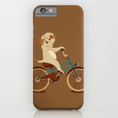 Puppy on the bike iPhone 6s Slim Case