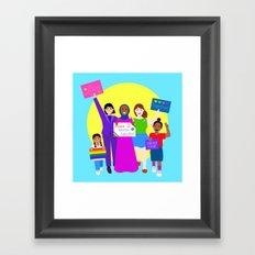 Rally For Love Framed Art Print