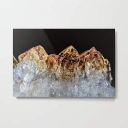 Fire and Ice Citrine crystals Metal Print