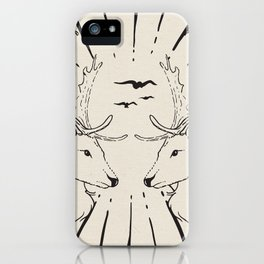 deer twins white canavs iPhone Case