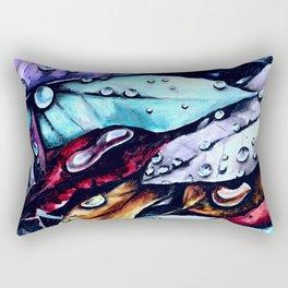 Foliage watercolor painting art Rectangular Pillow
